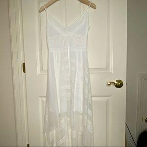 BCBG white Lace High Low Dress Size S